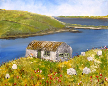Irish Cottage by the Ocean