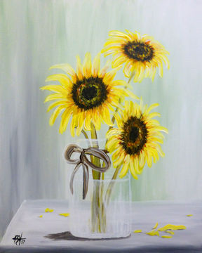 Sunflowers in Mason Jar