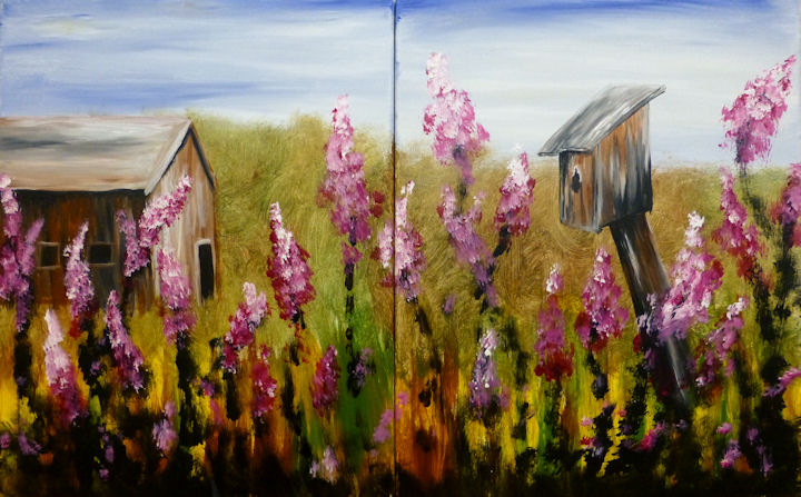 Birdhouse and Barn - Partners Painting