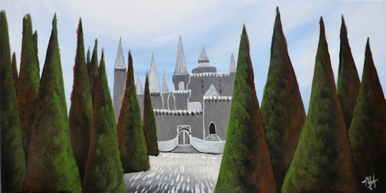 Harry Potter's Ilvermorny Castle - 12x24 canvas