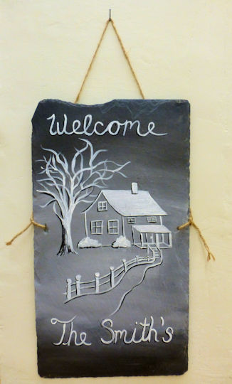 Winter Welcome House Family Name