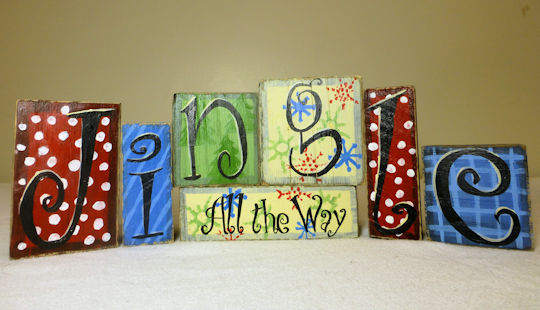 Jingle All the Way - decorative blocks