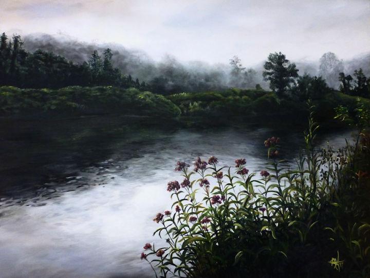 Westfield River, MA - 36x48 acrylic