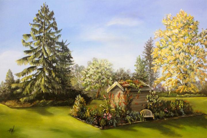 Berkshire Botanical Garden - 24x36 acrylic
