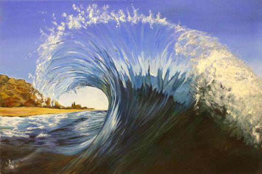 Ocean Wave - 24x36 acrylic