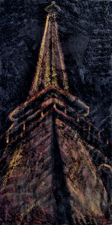 Eiffel Tower - mixed media