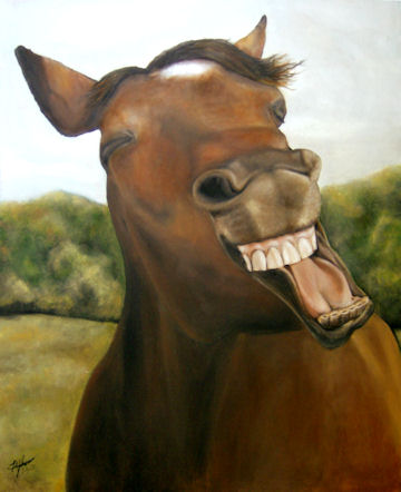 Laughing Horse - 16x20