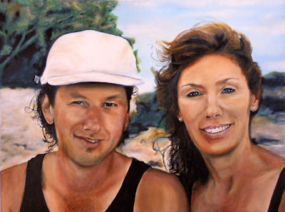 Cathy & Corry - 18x24 oil