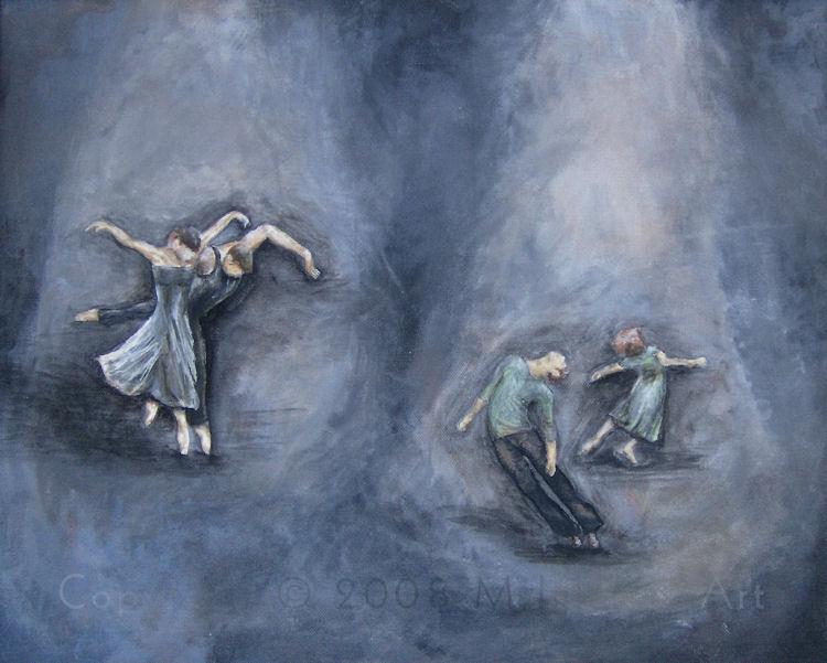 Dancers - 16x20 oil