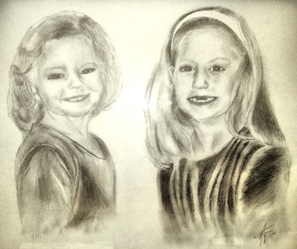 Sketch of two Sisters