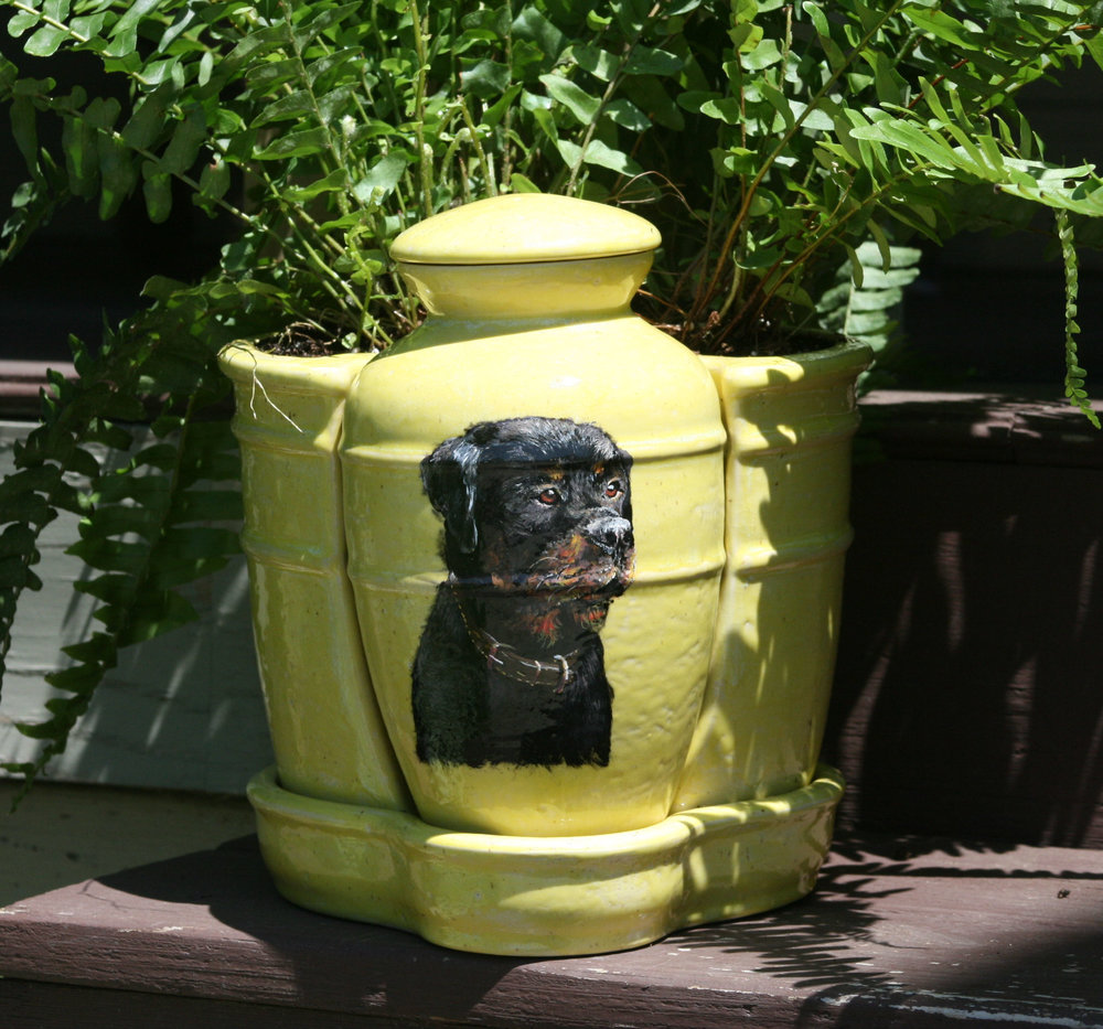 Dog Portrait on Urn
