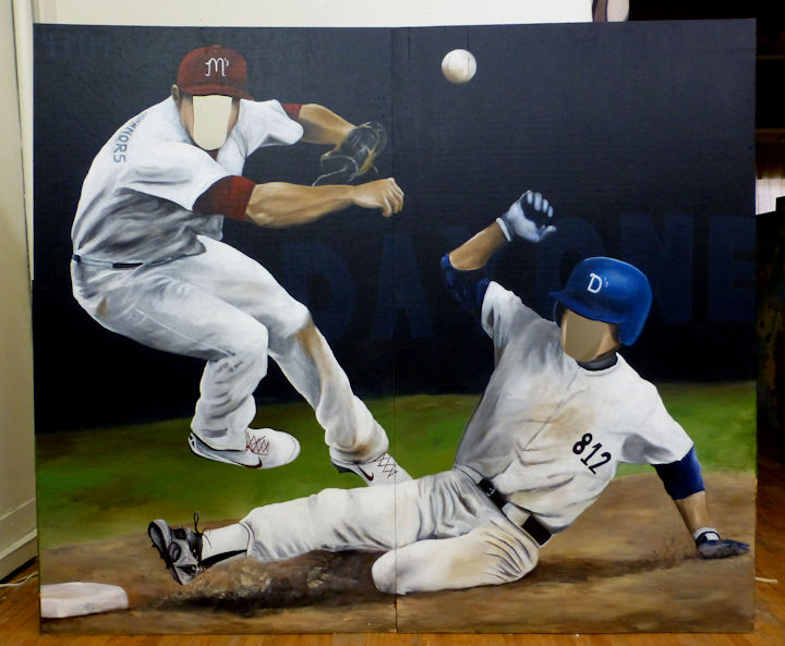 Life Size Baseball Player Cutouts for Photos - 72x84 acrylic on plywood