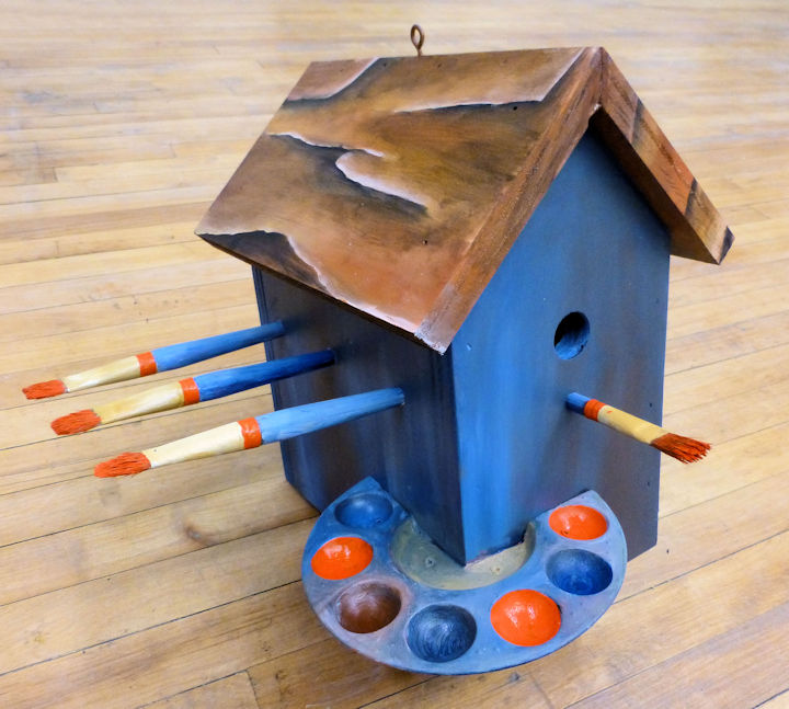 Paint Brush Bird House