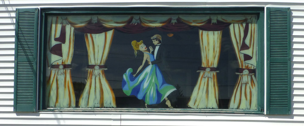 Ballroom Dancers - 11 ft x 5 ft on window