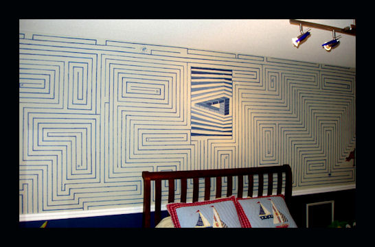 Interactive Magnetic Wall Maze