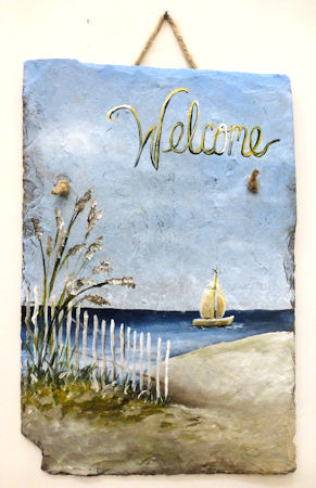 Beach Welcome Slate Sign