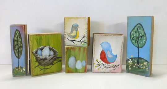 Twisted Tweets Wood Blocks