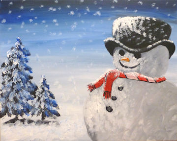 Snowman with Red Scarf