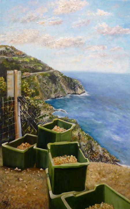 Cinque Terre, Italy - 30x48 oil on canvas