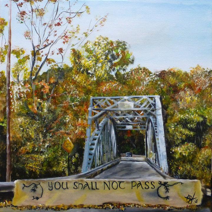 Iron Bridge in Falls Village CT - 12x12 - acrylic