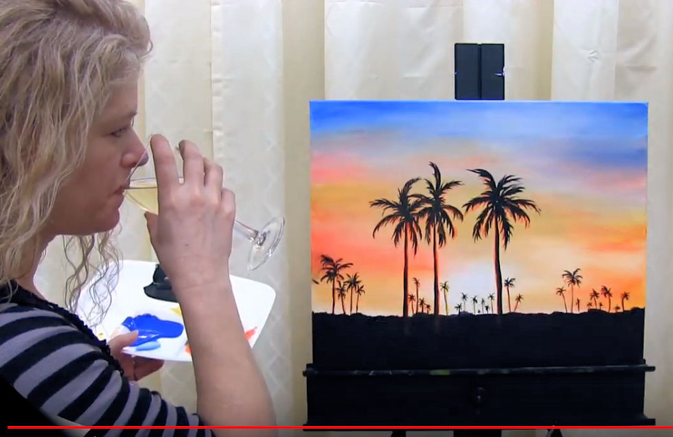 "HOW TO PAINT ""HAWAIIAN SUNSET"" - Video - Image"