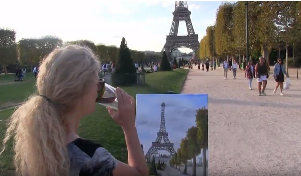 "LEARN TO PAINT THE ""EIFFEL TOWER"" PARIS, FRANCE - Video - Image"