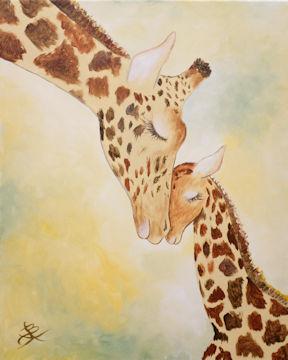 Mama and Baby Giraffes