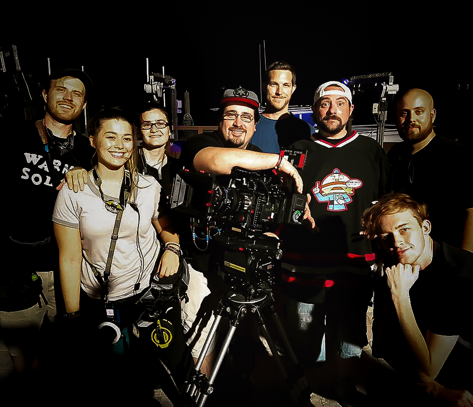 Co-Founder, Scott Sullivan, on set with Kevin Smith.