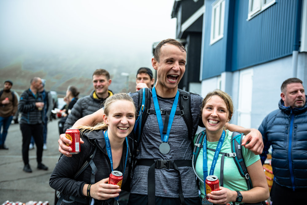 Finishers of the Útilív Mountain Half Marathon  Photo by Scott Seefeldt