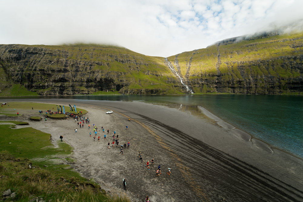 The start of the Útilív Mountain Half Marathon in Saksun  Photo by Jack Atkinson