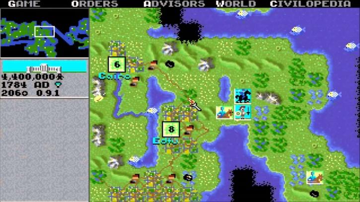 Sådan så det første Civilization ud, da det udkom i 1991.