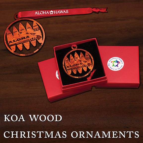 Koa Wood Christmas Ornaments