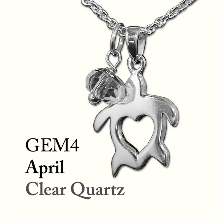 April Clear Quartz Gem Drop