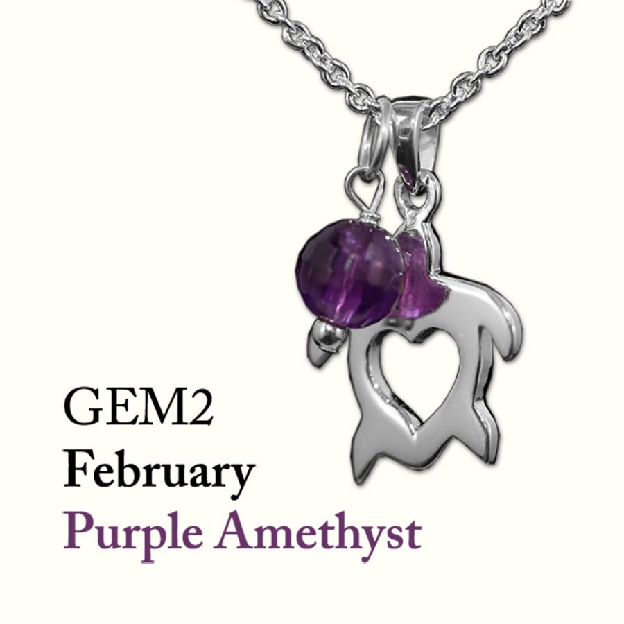 February Purple Amethyst Gem Drop