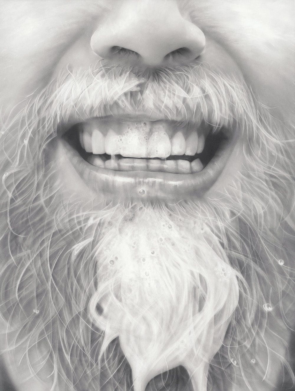 """Papa Beard"", Graphite on paper, 50 x 38 inches. 2017."