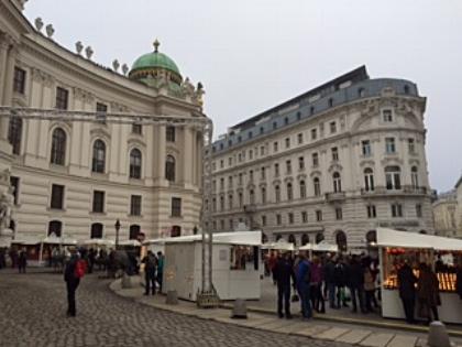 Christmas Market outside of the Hofburg Palace, Vienna, Austria