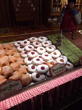 Delicious donuts at a Christmas Market, Vienna, Austria