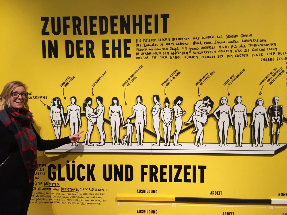 Living in this stage of the human Fuck and Leisure exhibit, Vienna, Austria