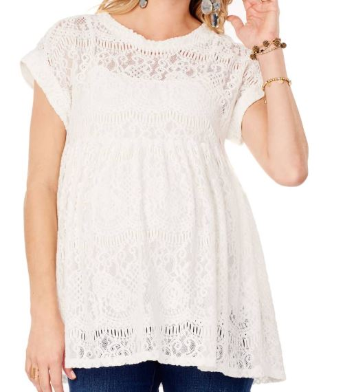 Lace Maternity Swing Top ( here )