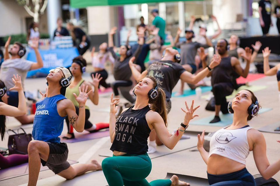 Silent Disco Yoga Jams W Fitness Ambassadors Live Music Fitness Ambassadors