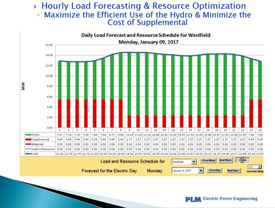 Bid-to-Bill Services - The New York Municipal Power Agency has retained PLM to provide complete bid-to-bill services to the Agency and its 36 member systems. The retainer includes daily operational and long-term bulk power supply planning services. PLM provides hourly load forecasts looking ten days forward and resource optimization and scheduling with the New York Independent System Operator (NYISO).