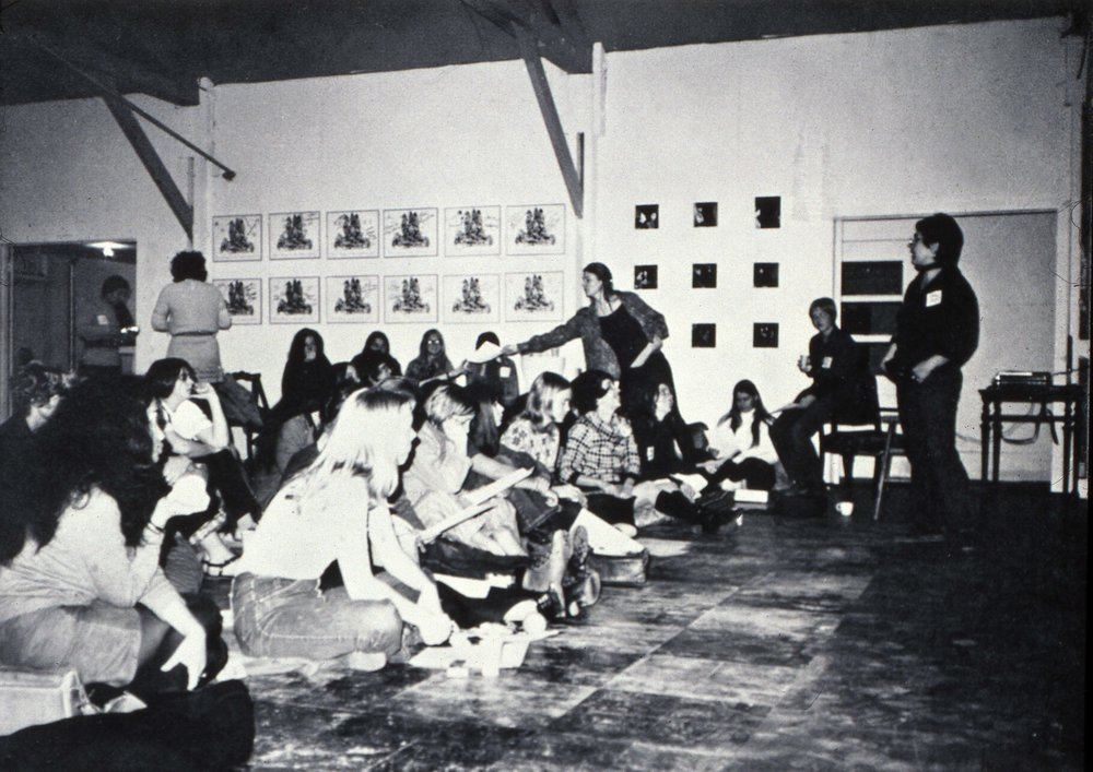 Rap Weekend  , spring 1971, Fresno California.  In our studio we hosted a weekend of performances and exhibited work to a large group of both local and out of town visitors.