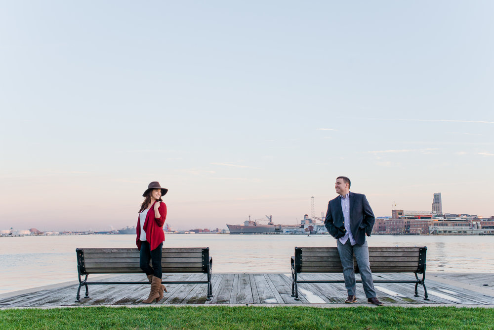 Alex & Paul | Inner Harbor : Baltimore, Maryland