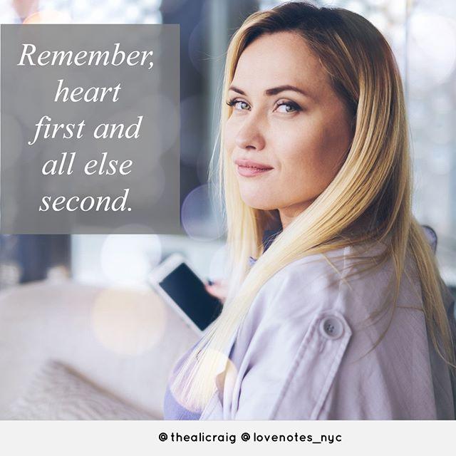 Heart first!⠀ *⠀ #lovenotes_nyc #handwritten #handwrittennotes  #greetingcards #notecards #notpc #hearttoheart #relationships #tellthetruth #nothallmark #notpapyrus #message #messagematters #relationshipgoals #cards #cardshop #online #madeintheusa #thealicraig #personal #professional #truth