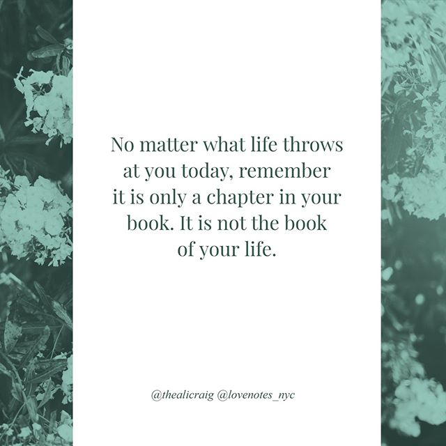 No matter what life throws at you, remember it is only a chapter in your book.⠀ *⠀ #lovenotes_nyc #handwritten #handwrittennotes  #greetingcards #notecards #notpc #hearttoheart #relationships #tellthetruth #nothallmark #notpapyrus #message #messagematters #relationshipgoals #cards #cardshop #online #madeintheusa #thealicraig #personal #professional #truth