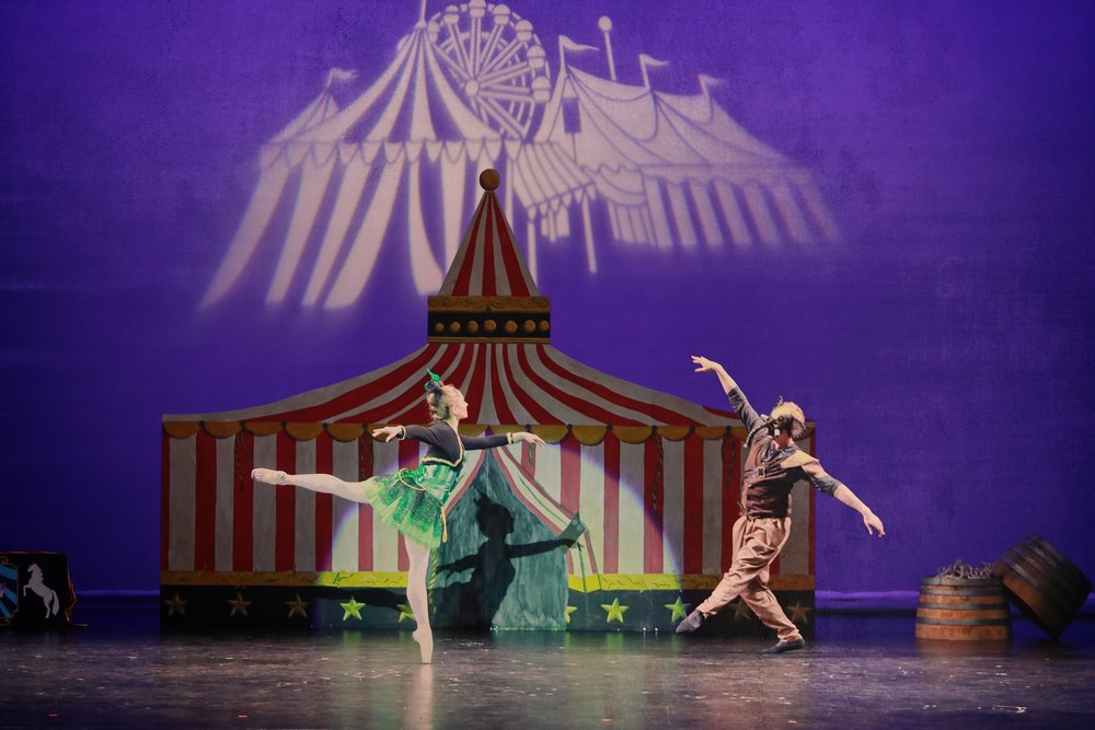 Carnival of the Animals - True to its name featuring whimsical creatures, with music by Camille Saint-Saëns and Abernethy original choreography based off of Christopher Wheeldon's 2003 production.