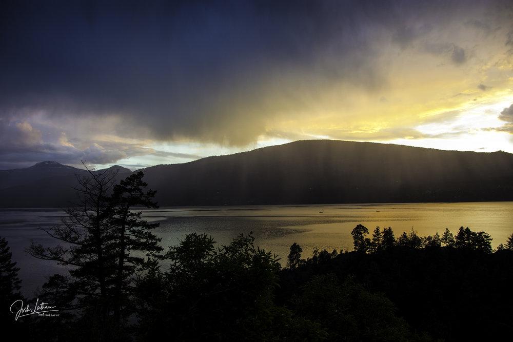 Sunset on Okanagan Lake, BC, Canada