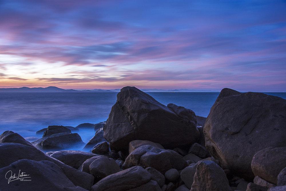 Sunset at South West Rocks looking toward Nambucca Heads, NSW, Australia