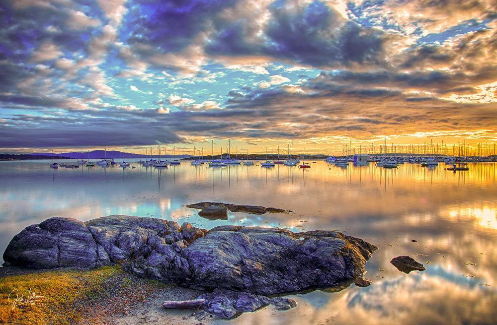Sunrise at Oak Bay Marina, BC, Canada