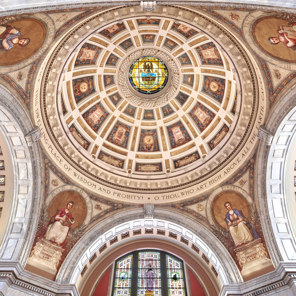 The Restoration of the Luzerne County Courthouse Rotunda - Earned an 2018 Trumbauer Award for Fine Art from the Institute of Classical Art and Architecture, Philadelphia Chapter.